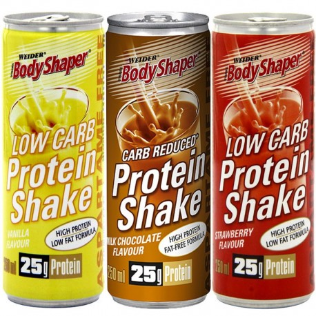 Botella Proteinas Low Carb Protein Shake 24 Unid. - Body Shaper