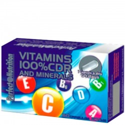 Vitamins & Minerals 100% 60 Caps- Perfect Nutrition