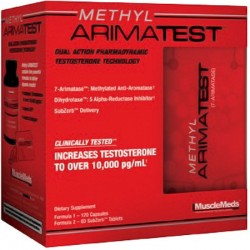 Pro Hormonal Methyl Arimatest 180 Tabs - Musclemeds