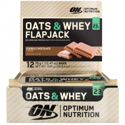 Barritas Oats & Whey Flapjack 12 Bar x 70 gr - Optimum Nutrition