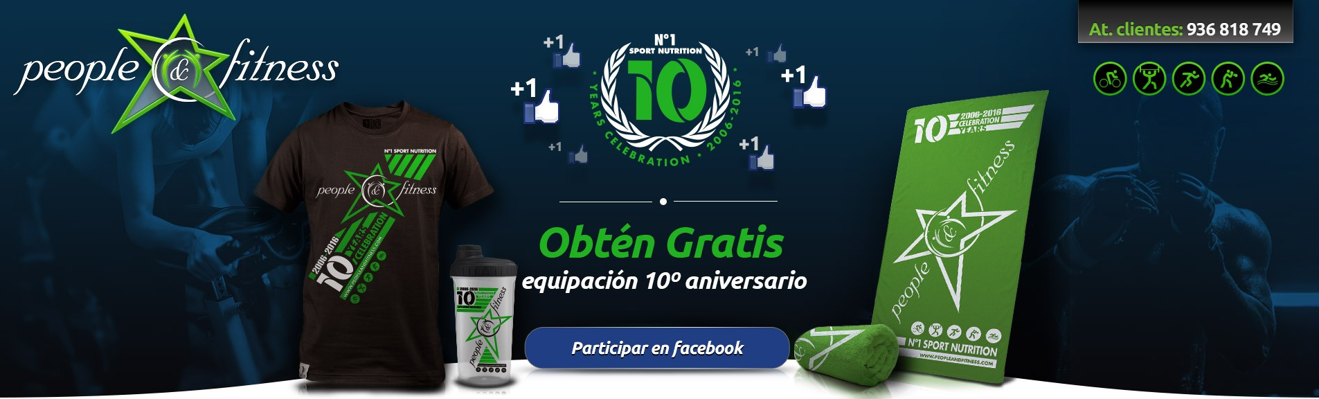 Campaña facebook 10 aniversario people and fitness
